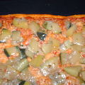 Pizza aux courgettes sautées