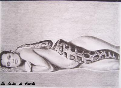 98 Femme Serpent A4