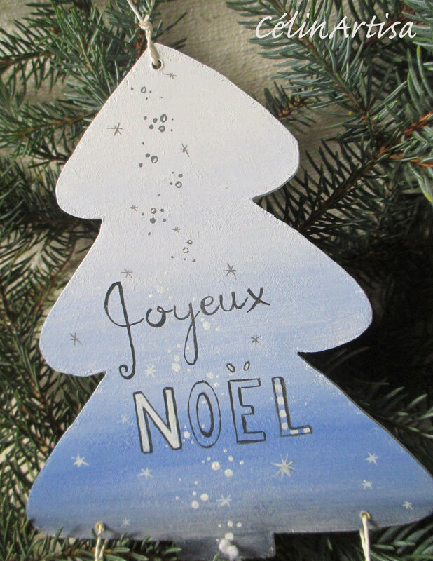 "Suspension grand sapin ""Joyeux-Noel"""