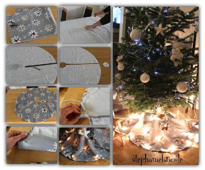 Sapin De Noel Avec Pied diy un tapis de sapin de noël en tissu et lumineux