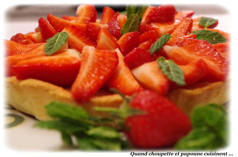 tarte aux fraises à la pâte d'amandes-9292