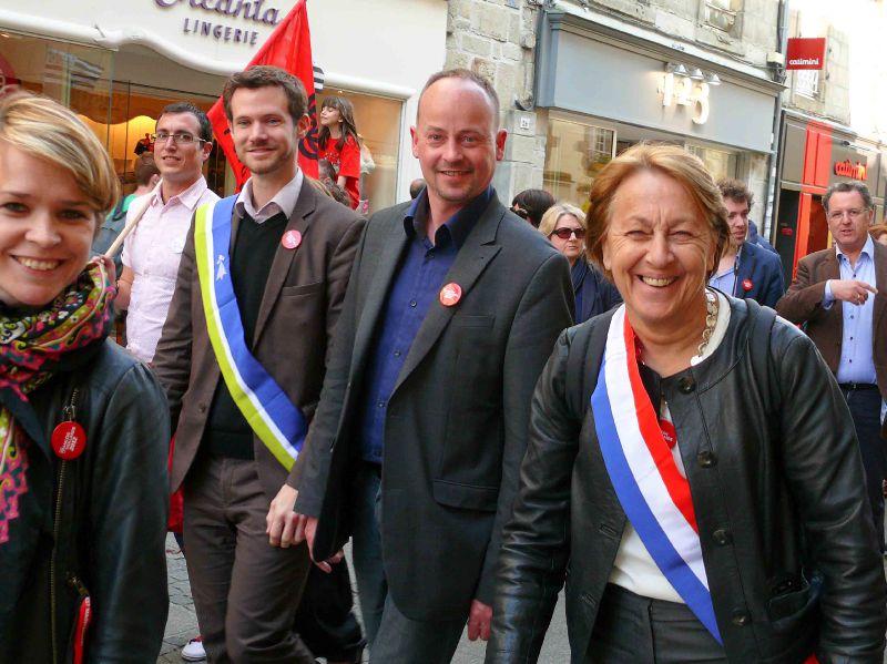 Marylise Lebranchu, députée du Finistère, et Marc Coatanéa, secr