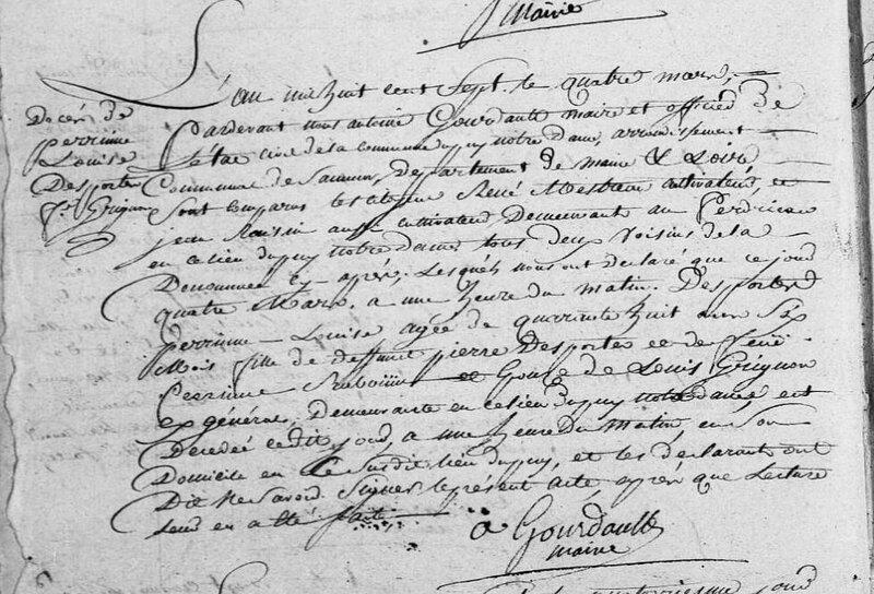 Perrine-Louise décès 1807