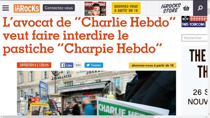 CharlieHebdoCensureCharpieHebdo