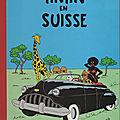 Tintin en suisse