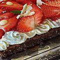Belle union entre la fraise, le chocolat et l'orange
