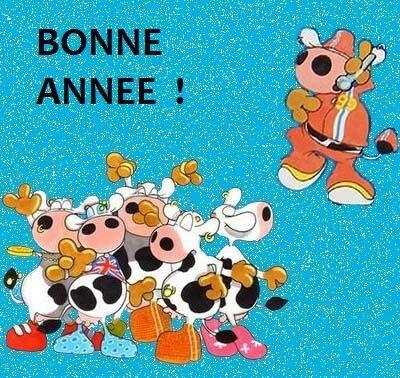 Bon Reveillon Bonne Annee La Vache En Folie