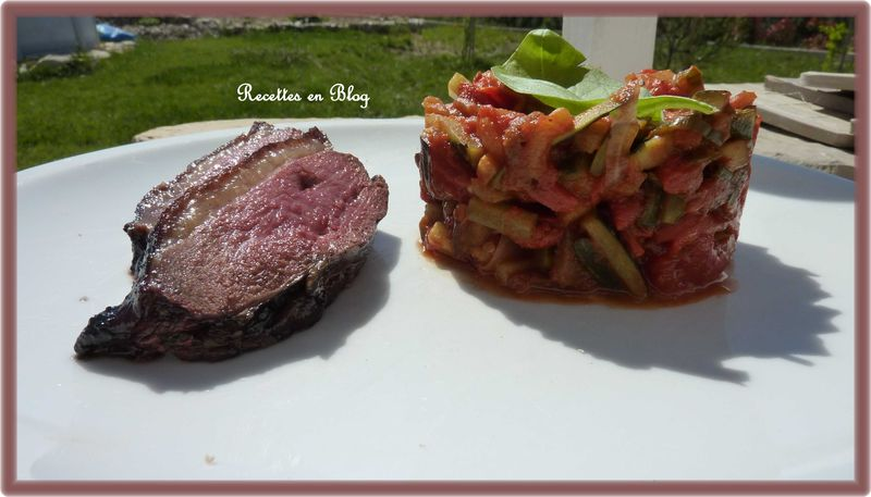 ratatouille et magret de canard au barbecue recettes en blog. Black Bedroom Furniture Sets. Home Design Ideas