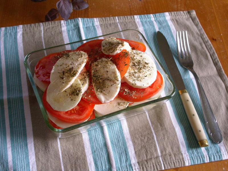 Gratin de légumes du soleil : tomates et courgette du jardin, mo
