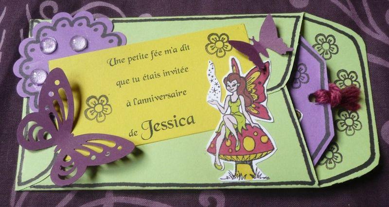 Invitations anniversaire 7 ans Jessica - Emyfée