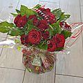 Envie de roses rouges? offrez un bouquet bulle de roses rouges