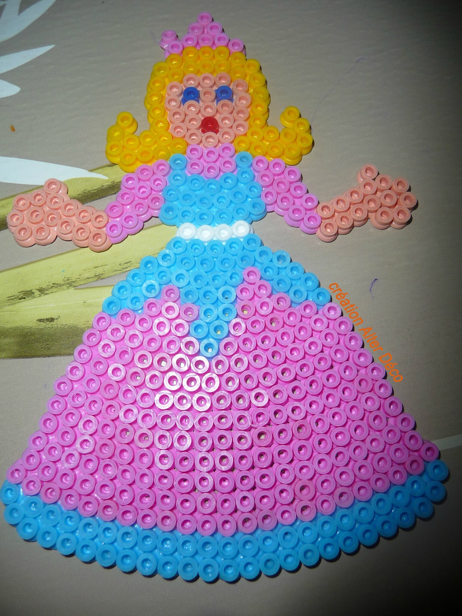 princesse en perles à repasser