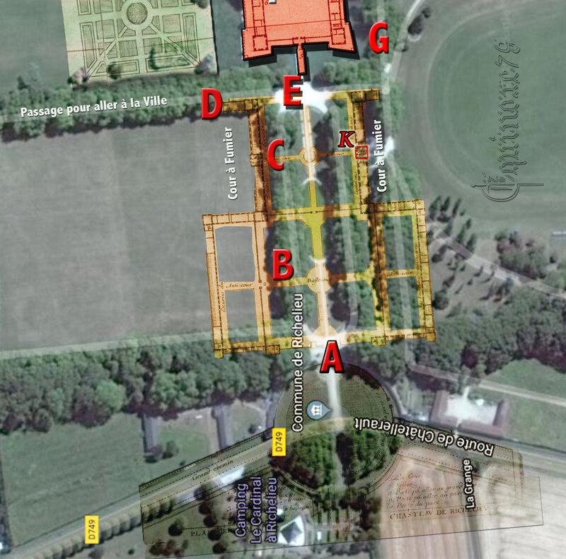 plan général du château de Richelieu 1