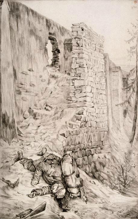 Tissot (James), Le premier tué que j'ai vu (1870), Souvenir du siège de Paris