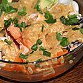 Buddha bowl aux legumes d'hiver et a la truite
