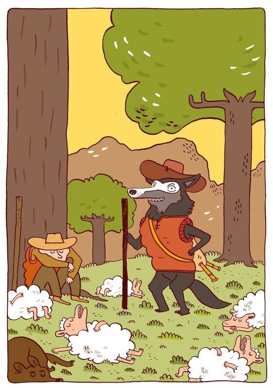 le loup et le berger