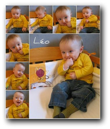 Picnik collage Léo jaune blog