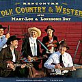 Mary-lou, hoboes and rencontres folk, country and western schedule