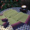 écharpe et mitaines pour WinterSwap (laines La Droguerie)