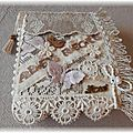 Mini album lace and vintage