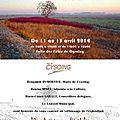 Exposition de mes toiles à cysoing du 11 au 13 avril 2014
