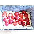 Le cake aux fraises