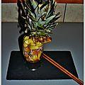 Verrine d'ananas au thon snacke