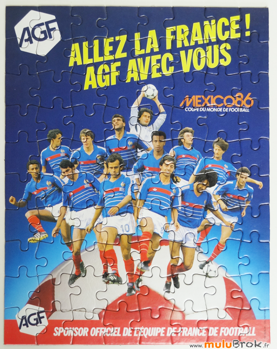 FOOTBALL-Mexico-86-Puzzle-AGF-5-muluBrok-Vintage