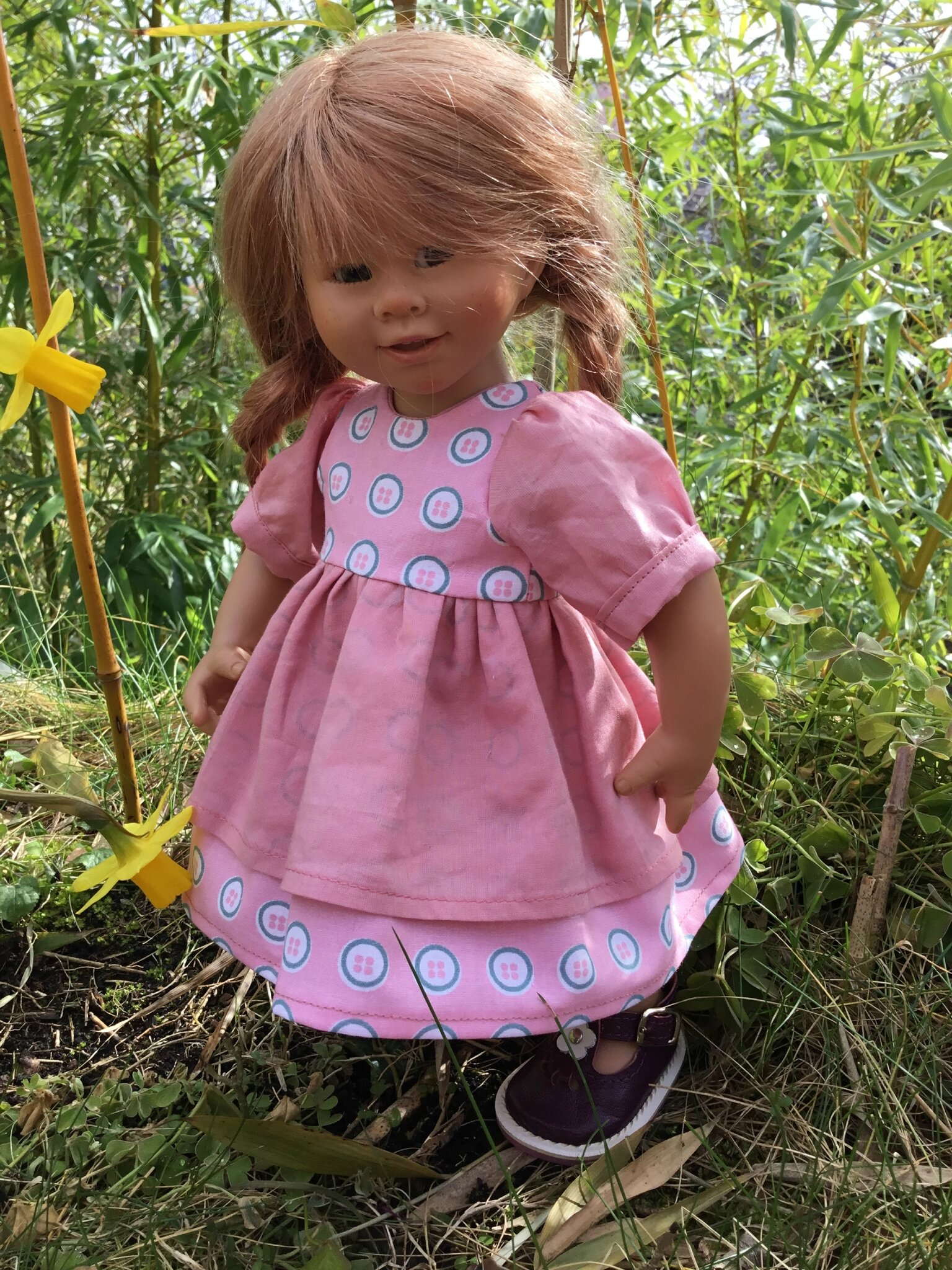 Robe rose pour Wichtel et Zwergnase 35 cm,plus disponible, 15 € et 2,50