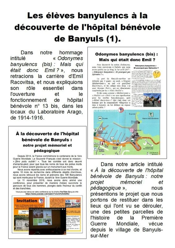 a la decouverte de l'hopital benevole - Page 1