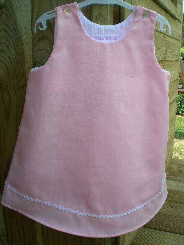Robe trapèze rose