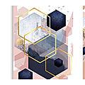 Aquarelle et hexagones by celina