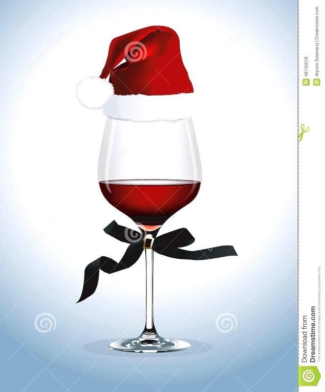 Décoration verre à vin de Noël