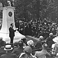 Inauguration du monument stendhal au jardin du luxembourg, 28 juin 1920