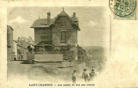 rue Sibert et rue des Forges avant 1908