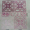 DMC rose - 3685 - 3803 - 3687 - 3688 et 3689