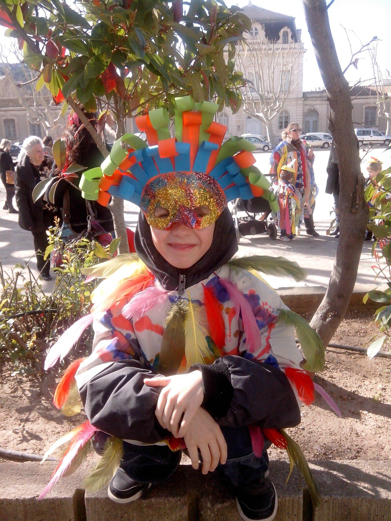 Aujourd'hui c'était jour de carnaval!