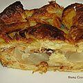 Moelleux aux poires et aux croissants.... rassis
