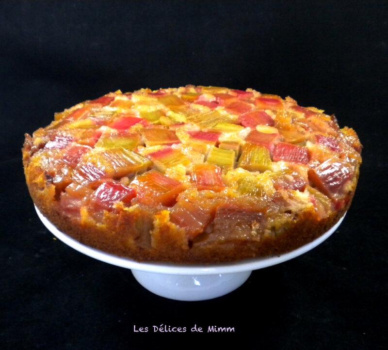 Gâteau à la rhubarbe 4