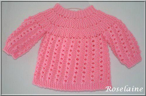 tricot bebe facile brassiere