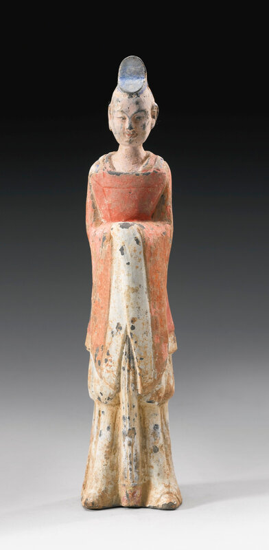 A painted pottery figure of an official, Northern Wei dynasty (386-534)