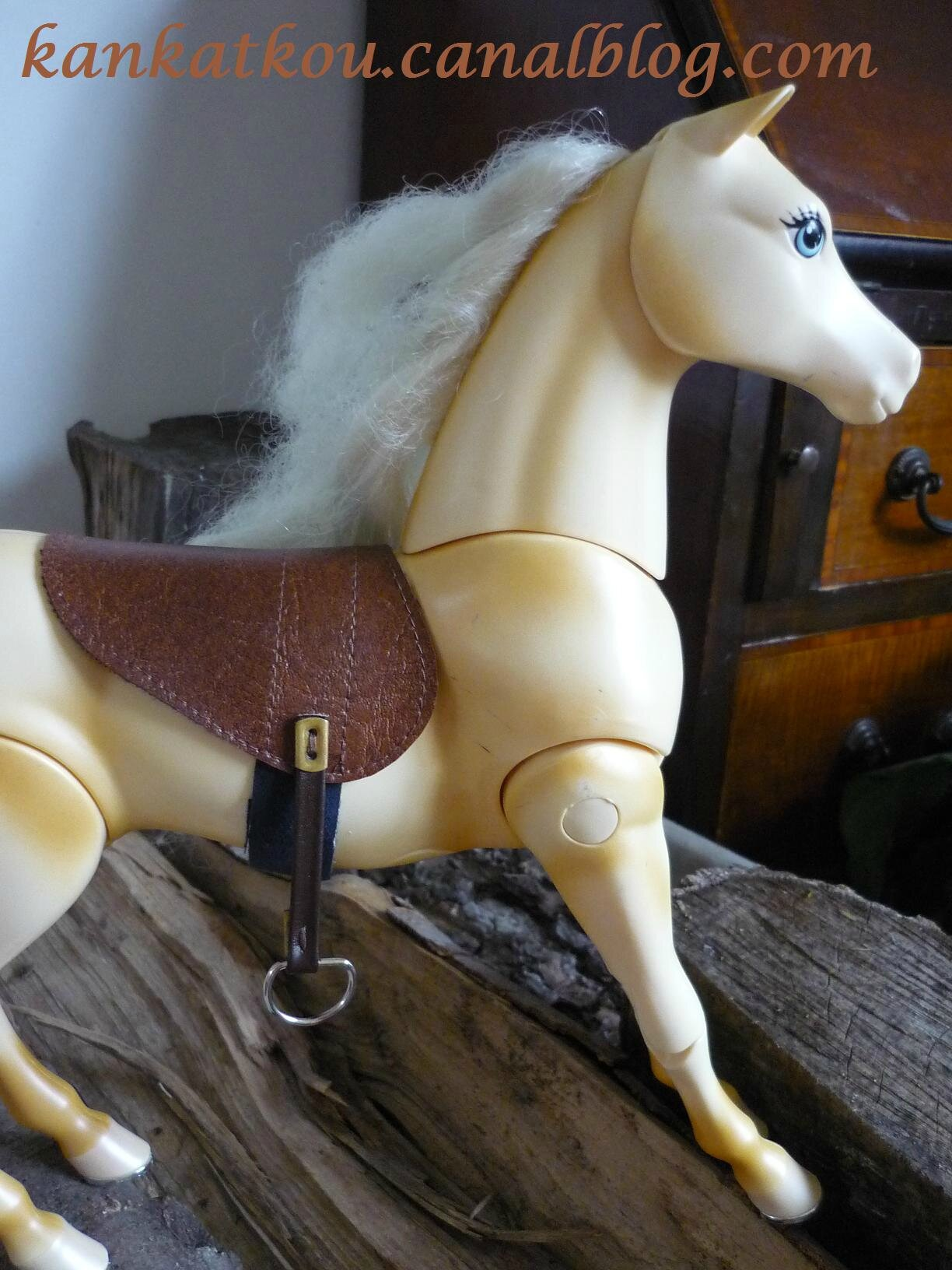 Selle cheval barbie