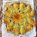 Flop : la tarte soleil courgette, chèvre, olives, romarin