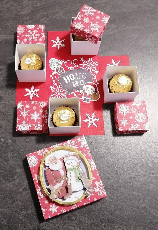 """Boîte à explosion """"4 chocolats"""""""