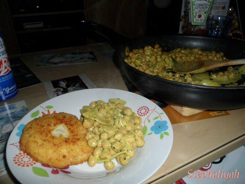 Pois chiches curry lait de coco -- 2