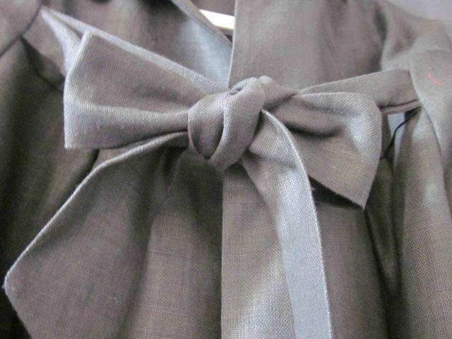 Manteau d'été en lin enduit gris ardoise (4)