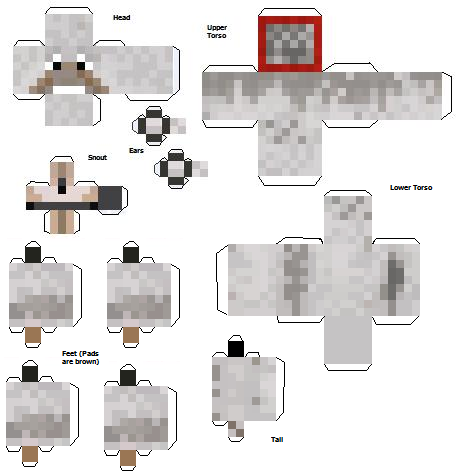 papercraft minecraft le ptit