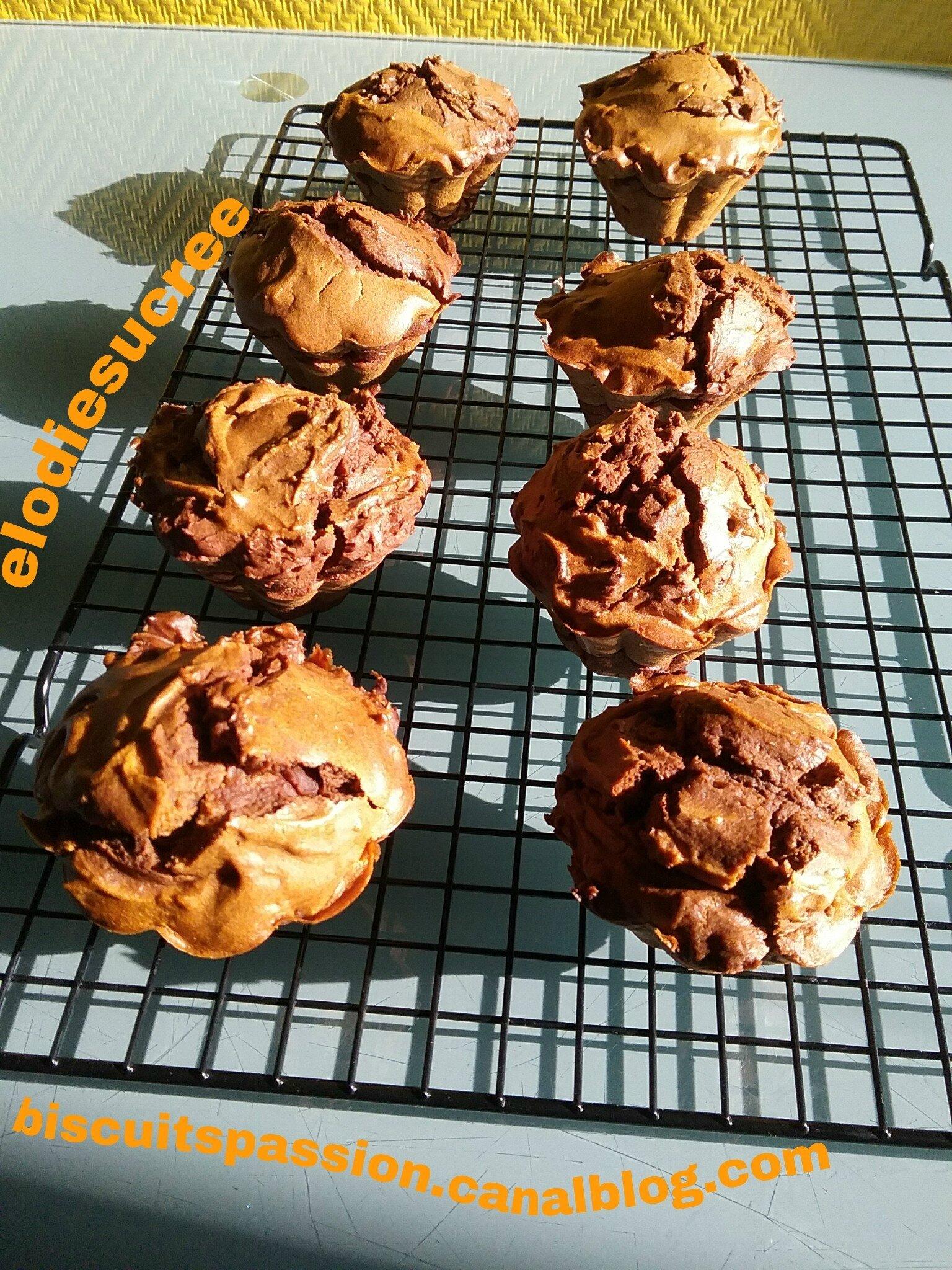 Petits gâteaux au potimarron et au chocolat noir