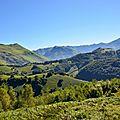 La vallée d'Aspe depuis la montée d'Ichèus...