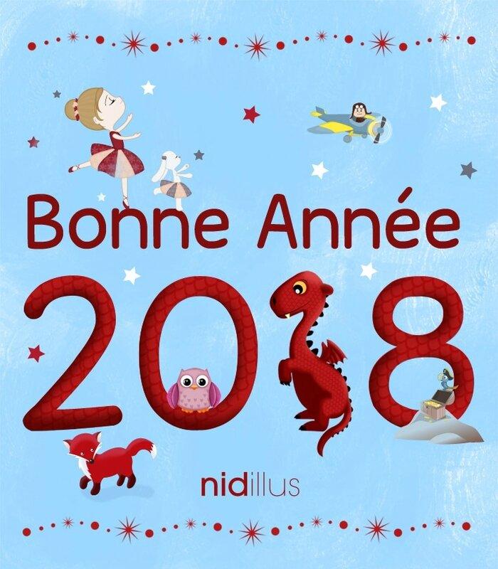 bonne annee 2018 nidillus illustration